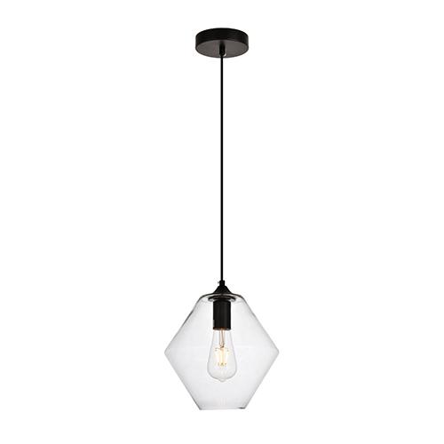 Placido Black 10-Inch One-Light Mini Pendant