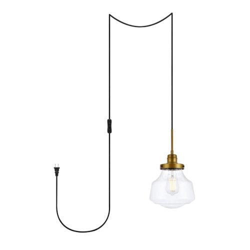Lye Brass One-Light Plug-In Pendant