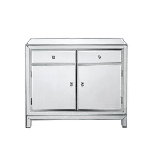 Reflexion Antique Silver 38-Inch Cabinet