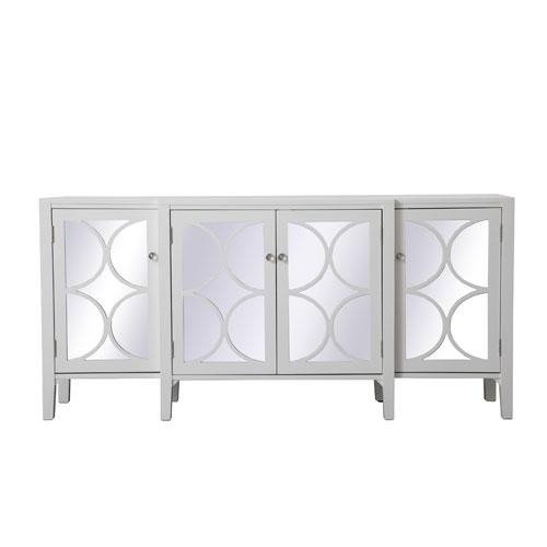 Modern White 72-Inch Sideboard