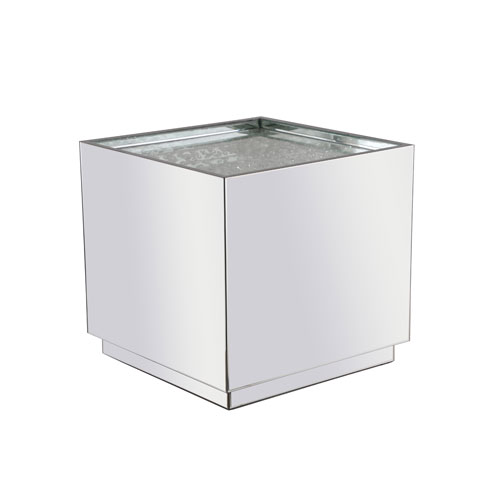 Modern Silver 24-Inch End Table