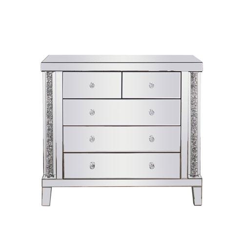 Modern Silver Royal Cut Crystal 39-Inch Cabinet