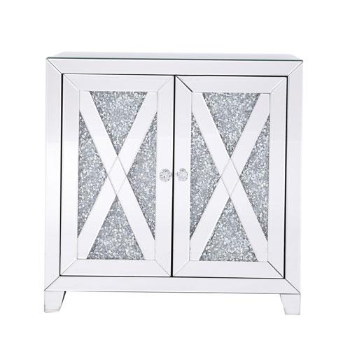 Modern Silver Crystal 28-Inch Cabinet