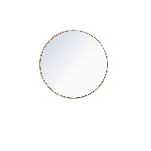 Eternity Round Mirror with Metal Frame