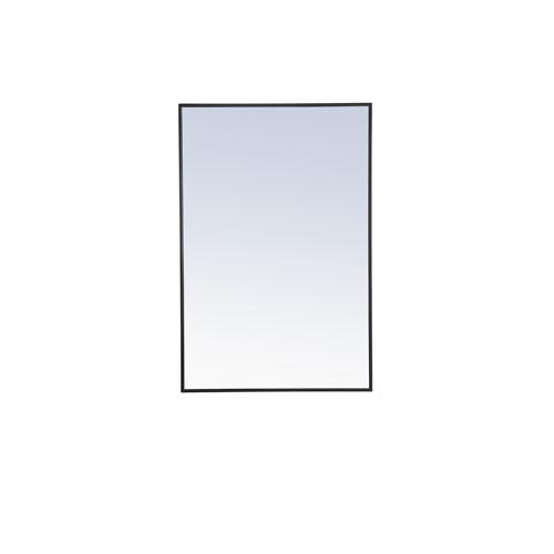 Eternity Black 28-Inch Rectangular Mirror
