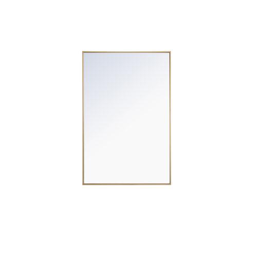 Eternity Brass 28-Inch Rectangular Mirror