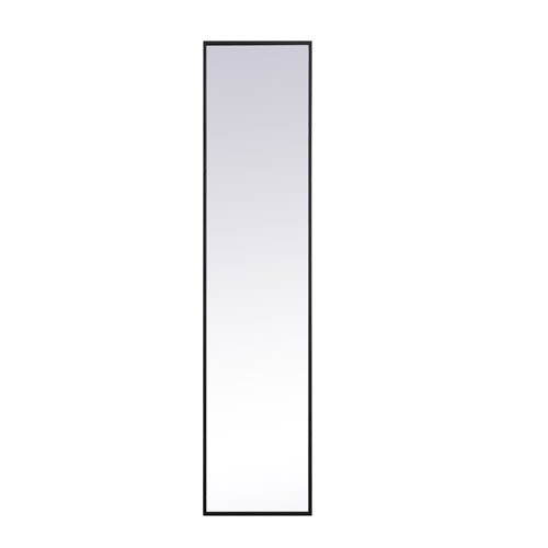 Eternity Black 14-Inch Rectangular Mirror