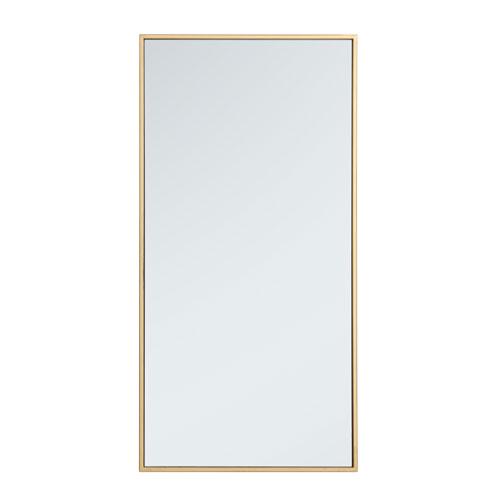 Eternity Brass 18-Inch Rectangular Mirror