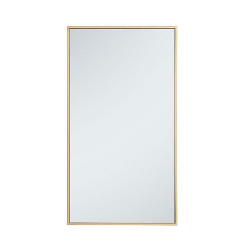 Eternity Brass 20-Inch Rectangular Mirror with Metal Frame