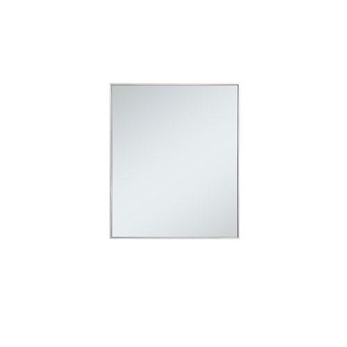 Eternity Silver 30-Inch Rectangular Mirror