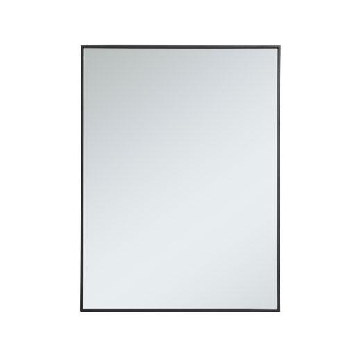 Eternity Black 30-Inch Rectangular Mirror