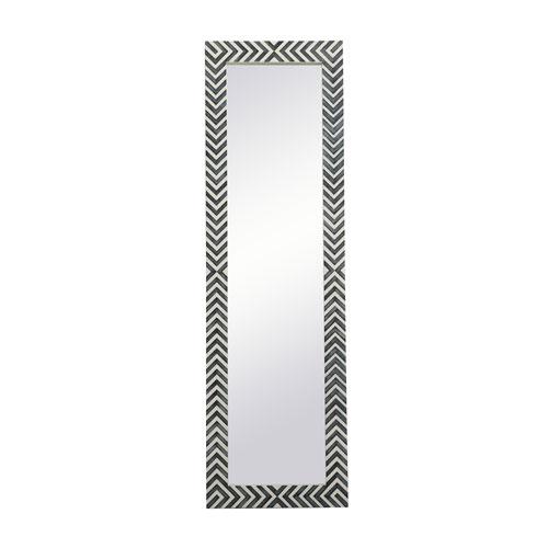 Colette Chevron 18 x 60 Inches Rectangular Mirror