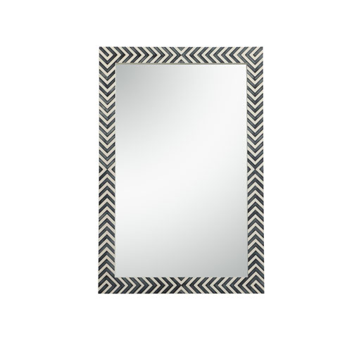 Colette Chevron 28 x 42 Inches Rectangular Mirror
