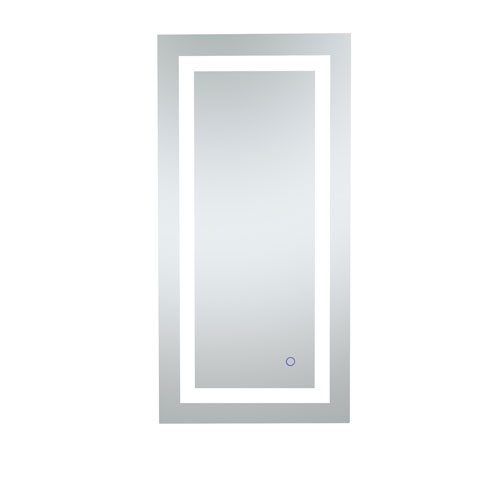 Helios Silver 36 x 18 Inch Aluminum Touchscreen LED Lighted Mirror