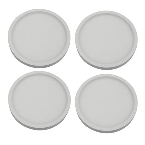 White Five-Inch 5000K LED Recessed Disk Light, Pack of Four