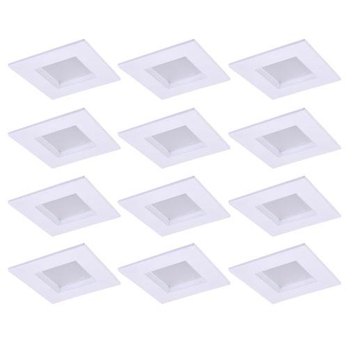 Gaige Matte White 4-Inch 4000K LED Recessed Retrofit Trim, Pack of 12