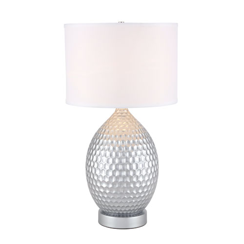 Miel Silver 16-Inch One-Light Table Lamp