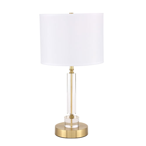 Deco Brushed Brass 13-Inch One-Light Table Lamp