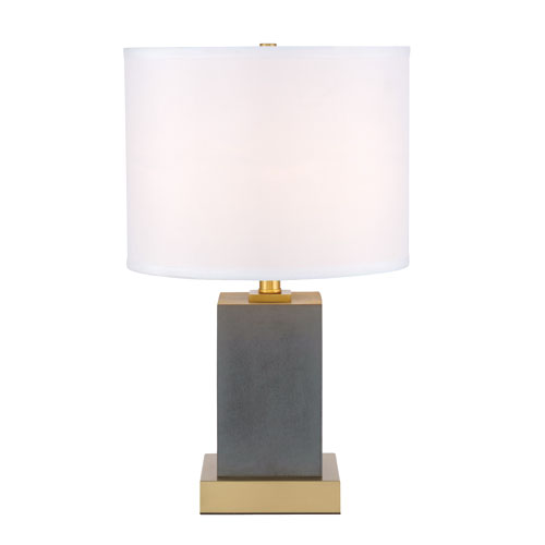 Pinnacle Brushed Brass 13-Inch One-Light Table Lamp