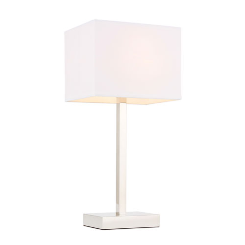 Katherina Polished Nickel Nine-Inch One-Light Table Lamp