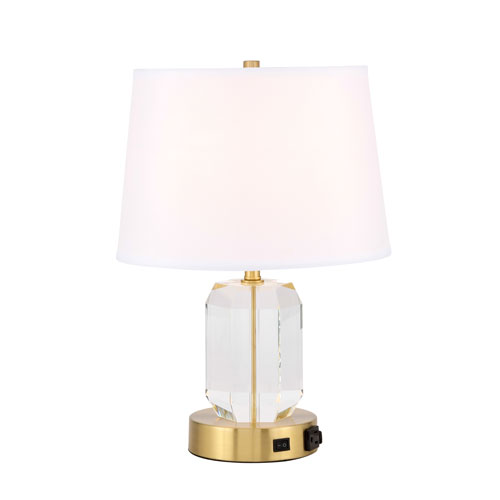 Wendolyn Brushed Brass 13-Inch One-Light Table Lamp