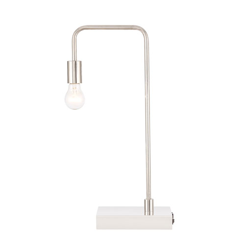 Marceline Polished Nickel 11-Inch One-Light Table Lamp