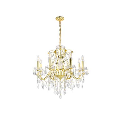 St. Francis Gold Eight-Light Chandelier