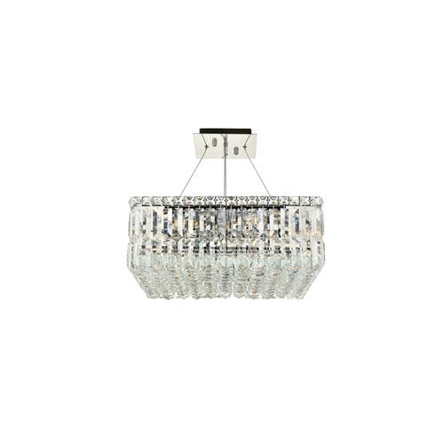 Maxime Chrome 12-Light Island Chandelier with Royal Cut Crystal