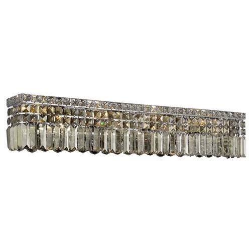 Maxime Chrome Eight-Light Wall Sconce with Smoky Royal Cut Crystal