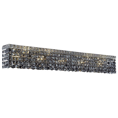 Maxime Chrome 44-Inch 10-Light Wall Sconce with Silver Shade