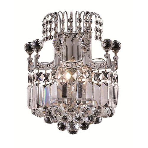 Corona Chrome 12-Inch Two-Light Wall Sconce with Swarovski Crystal