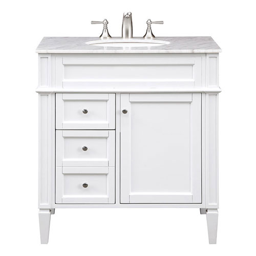 Elegant Lighting Park Ave White 32 Inch Vanity Sink Set Vf 1024 Bellacor