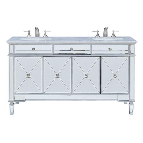 Camille Silver 60-Inch Vanity Sink Set