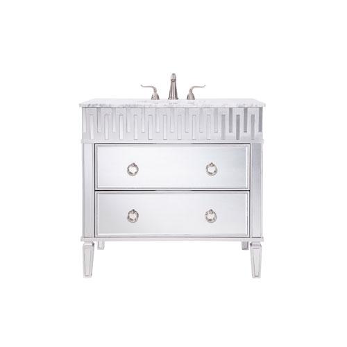 Nouveau Silver 36-Inch Vanity Sink Set