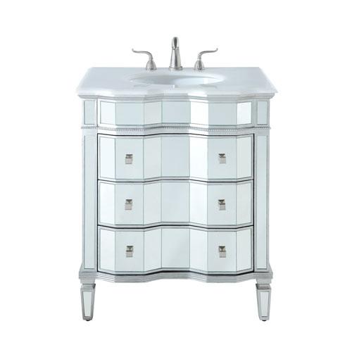 Camille Silver 30-Inch Vanity Sink Set