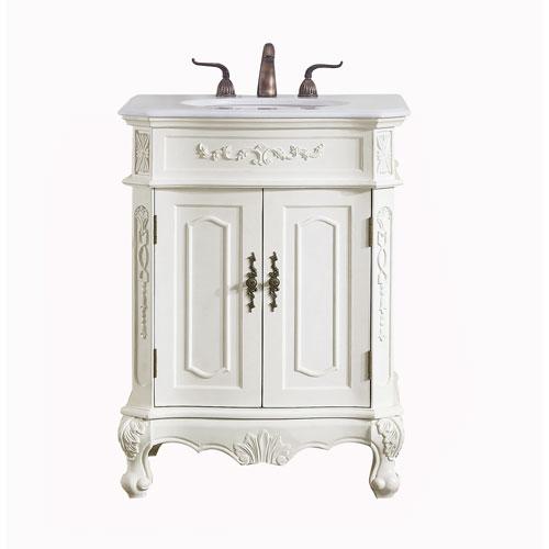 Danville Antique White 27-Inch Vanity Sink Set