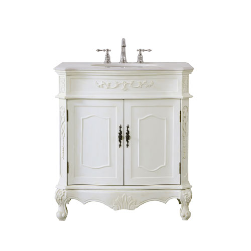 Danville Antique White 32-Inch Vanity Sink Set