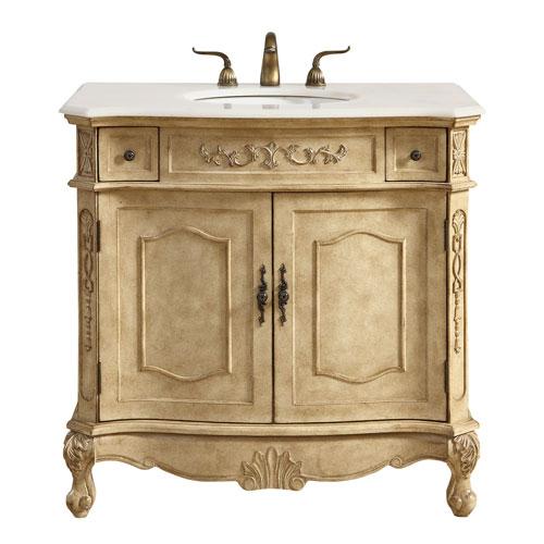 Danville Antique Beige 36-Inch Vanity Sink Set
