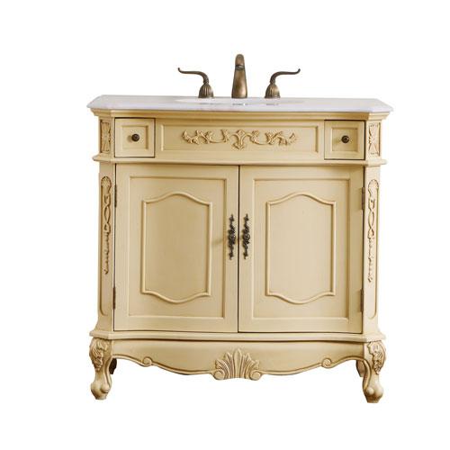 Danville Light Antique Beige 36-Inch Vanity Sink Set