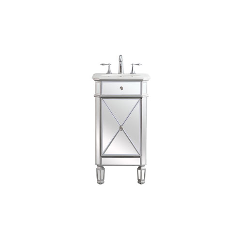 Camille Antique Silver 19-Inch Vanity Sink Set