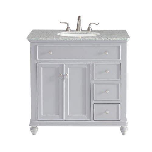 Otto Light Gray 36-Inch Vanity Sink Set