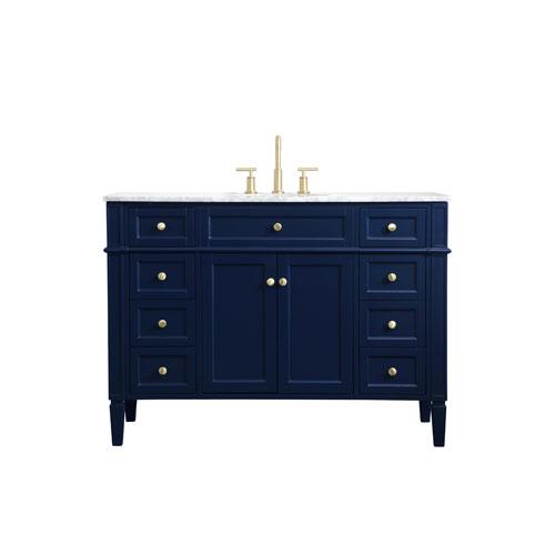 Williams Blue 48-Inch Vanity Sink Set