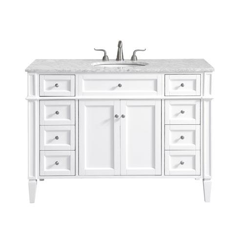 Park Avenue White 48-Inch Vanity Sink Set