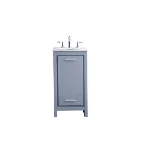 Filipo Gray 18-Inch Vanity Sink Set