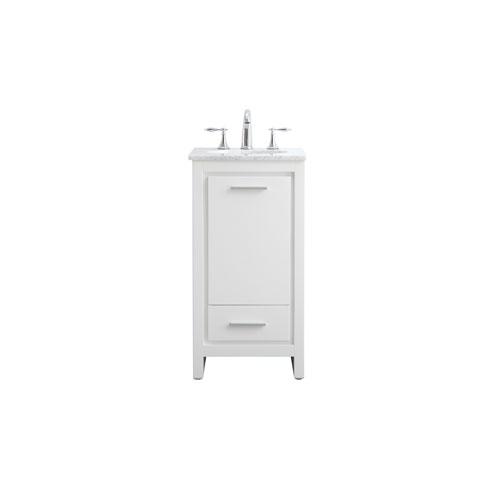 Filipo White 18-Inch Vanity Sink Set