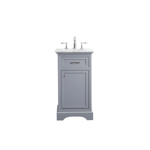 Americana Light Gray 19-Inch Vanity Sink Set