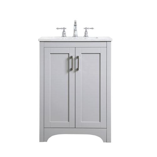 Moore Gray 24-Inch Vanity Sink Set