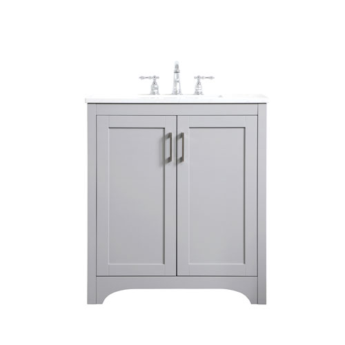 Moore Gray 30-Inch Vanity Sink Set