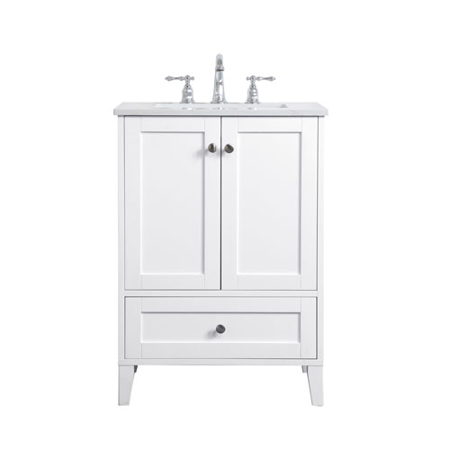 Elegant Lighting Sommerville White 24 Inch Vanity Sink Set Vf18024wh Bellacor