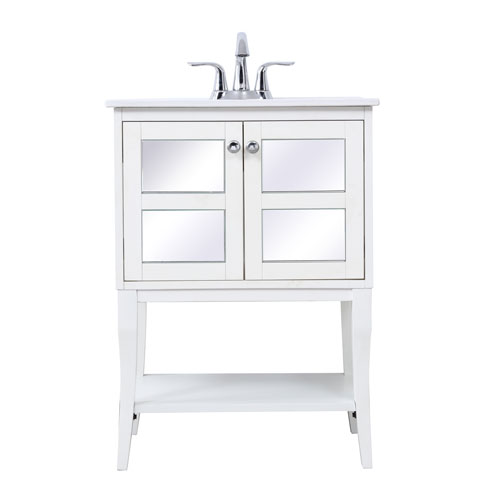 Mason Single Bathroom Mirrored Vanity Sink Set